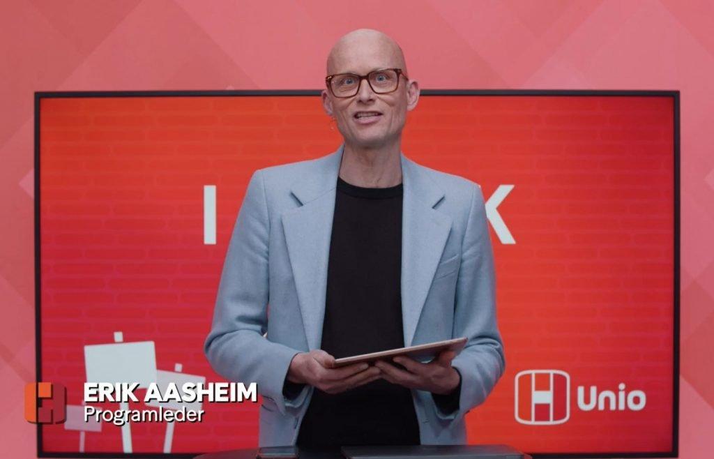 Erik Aasheim - programleder også for Unios andre